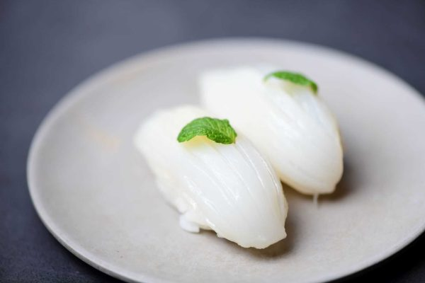 Cuttlefish nigiri sushi