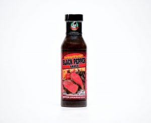Bottle of black pepper sauce