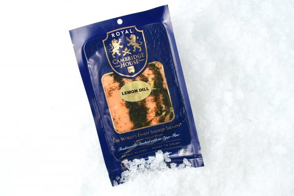 Lemon dill smoked salmon in package