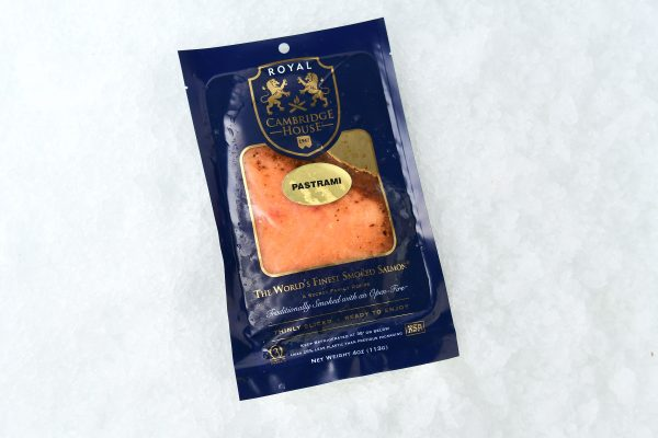 Smoked salmon pastrami flavor in package